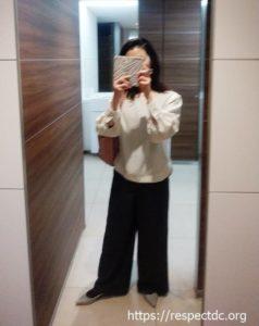 エアクロの1回目洋服コーデ