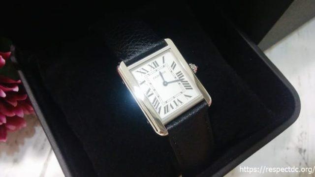 ウォッチレントでレンタルしたカルティエ腕時計