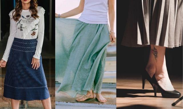 ガリガリ女子の似合うスカート