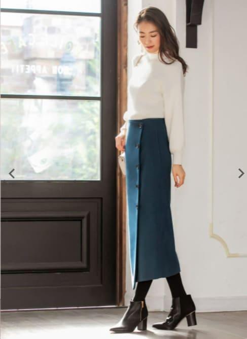 ガリガリ女子似合う服ペンシルスカート