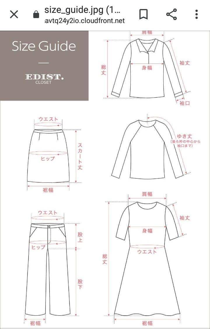 エディストクローゼットサイズ洋服寸法